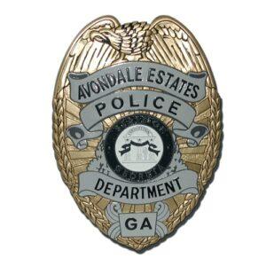 Avondale Estates GA Police Dept Badge Plaque