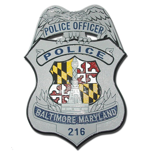 Baltimore Police Officer Badge Plaque