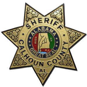 Calhoun County Alabama Sheriff's Department Badge Plaque