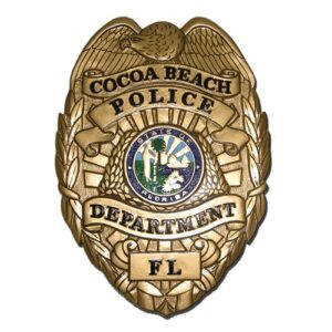 Cocoa Beach Police Department Badge Plaque