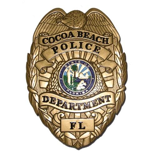 Cocoa Beach Police Department Badge Plaque
