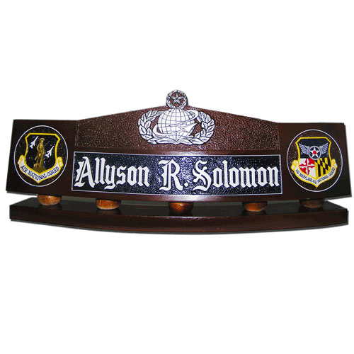 USAF Command Manpower and Personnel Badge Desk Name Plate