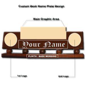 Custom Military Desk Name Plate