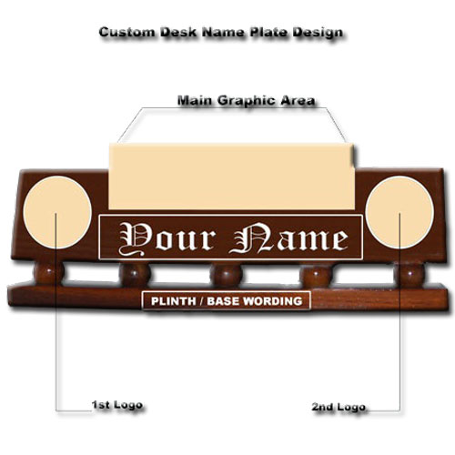 Custom Military Desk Name Plate
