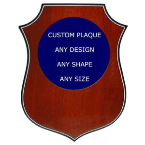 Custom Shield Shaped Award Plaque