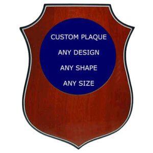 Custom Shield Shaped Award Plaque
