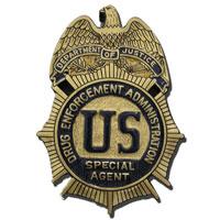 DEA Agent Badge Plaque