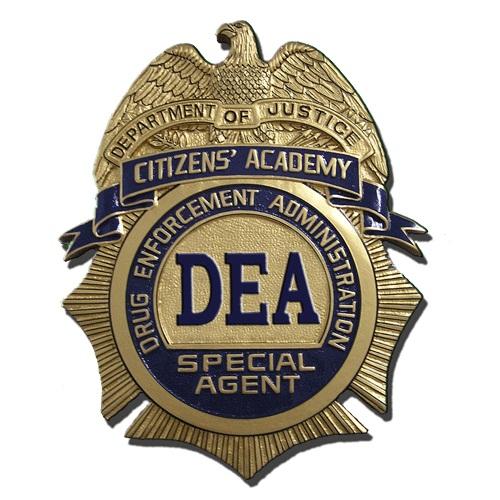 DEA Citizen's Academy Badge Plaque