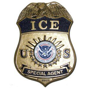 ICE Agent Wooden Badge Plaque