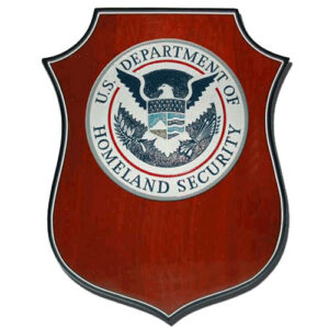 Homeland Security Seal Shield Shaped Award Plaque