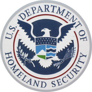 Department Of Homeland Security DHS Seal / Podium Plaque