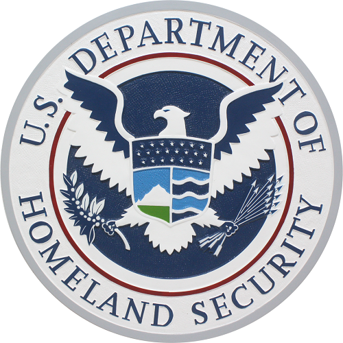 DHS Seal Plaque