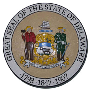 Delaware State Seal Plaque