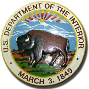 US Department of the Interior Seal / Podium Plaque