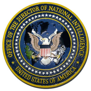 Director of National Intelligence ODNI Seal / Podium Plaque