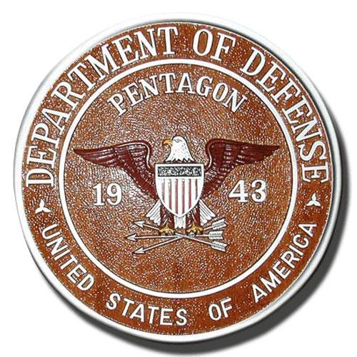 DoD Pentagon 1943 Seal / Podium Plaque