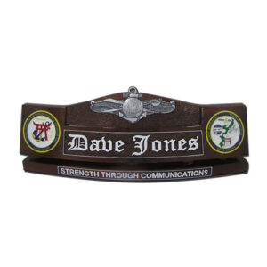 EIDWS Insignia Desk Name Plate
