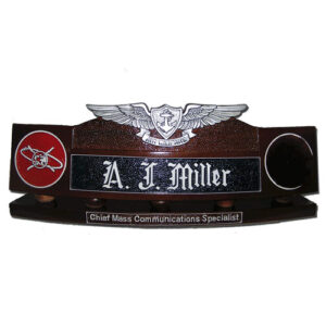 Enlisted Aviation Warfare Specialist Desk Name Plate