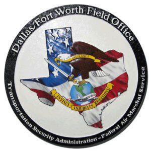 U.S. Federal Air Marshal Service Dallas Plaque