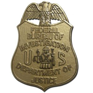 FBI Badge Plaque