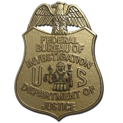 FBI Badge Plaque