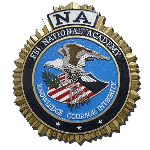 FBI National Academy Seal Plaque