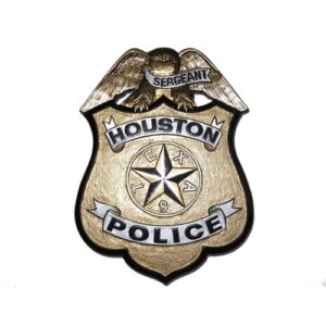 Houston Police Office Badge Plaque