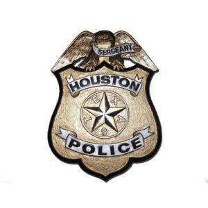 Houston Police Office Badge Plaque