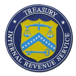 Internal Revenue Service IRS Plaque