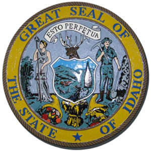 Idaho State Seal Plaque