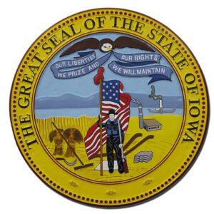 Iowa State Seal Plaque