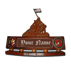 Iwo Jima Desk Flag Raising Desk Name Plate