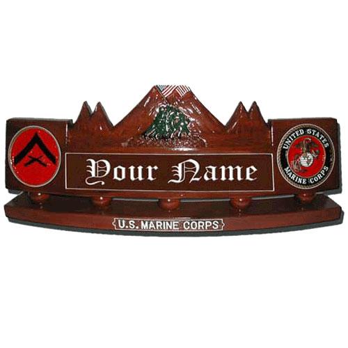 Iwo Jima Mount Suribachi Desk Name Plate