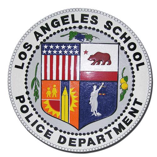 LA School Police Department Plaque