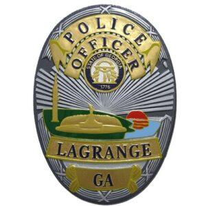 Lagrange GA Police Officer Badge Plaque