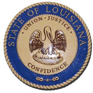 Louisiana State Seal Plaque