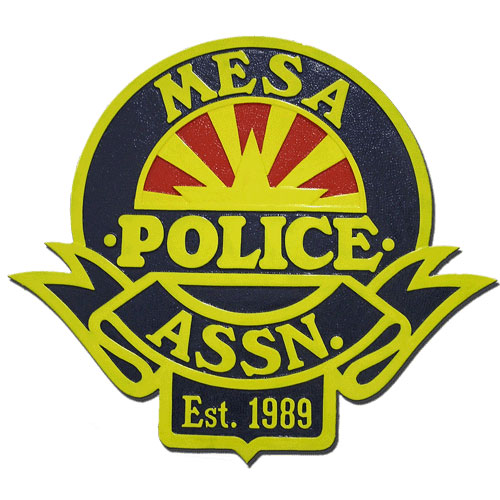 Mesa Arizona Police Association Plaque