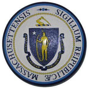 Massachusetts State Seal Plaque