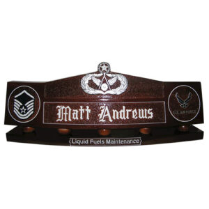 Master Civil Engineer Badge Desk Nameplate