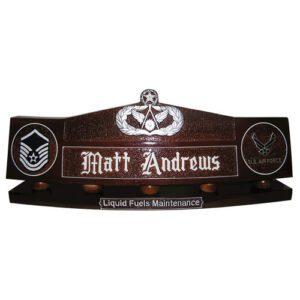USAF Master Civil Engineer Badge Desk Name Plate