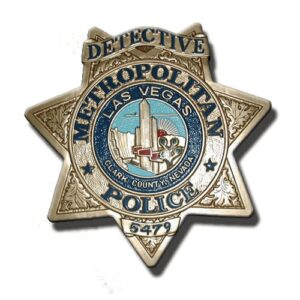 Las Vegas Police Officer Badge Plaque