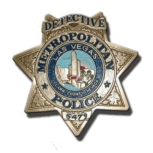 Las Vegas Police Officer Badge Plaque