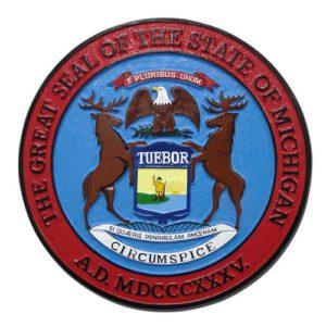 Michigan State Seal Plaque