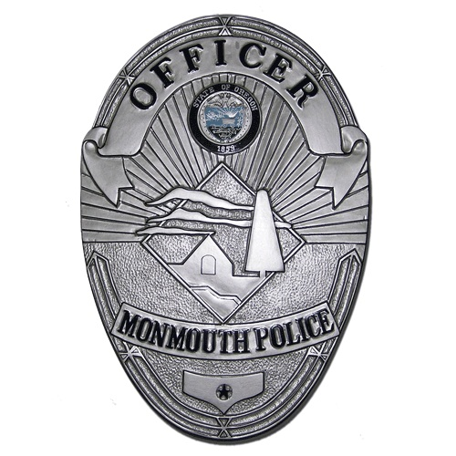 Monmouth Police Officer Badge Plaque