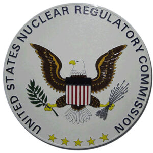 Nuclear Regulatory Commission Plaque