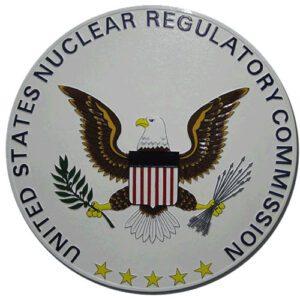 Nuclear Regulatory Commission Plaque