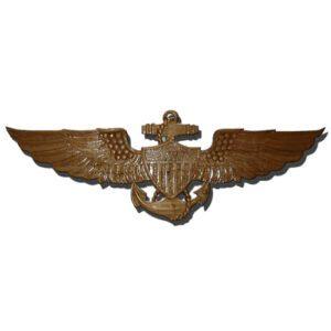 US Naval Aviator Wings Wooden Plaque