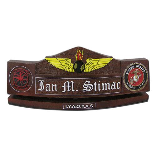 NAO Wings Insignia Desk Name
