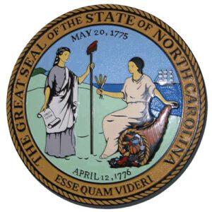 North Carolina State Seal Plaque