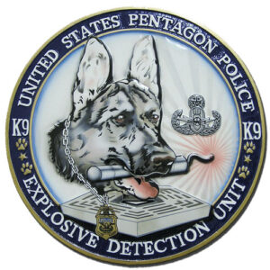 Pentagon Police Explosive Detection Unit Plaque